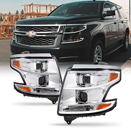 Cromo] 2015-2018 Chevy Suburban Tahoe halógeno Modelos LED DRL ...
