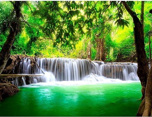 Fototapeten Tapete Fototapete Vlies Wasserfall Wandbild XXL 3D Effekt Wohnzimmer