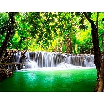 Fototapeten Wasserfall Natur 352 x 250 cm Vlies Wand Tapete ...