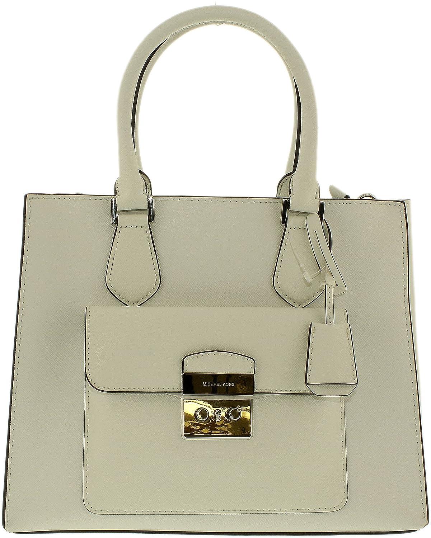 792750f5c8ce Amazon.com: MICHAEL MICHAEL KORS Bridgette Medium Saffiano Leather Tote  (Optic White): Michael Kors: Clothing