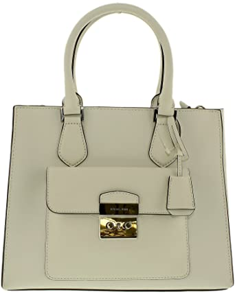 dde8a8272f06 MICHAEL MICHAEL KORS Bridgette Medium Saffiano Leather Tote (Optic White)