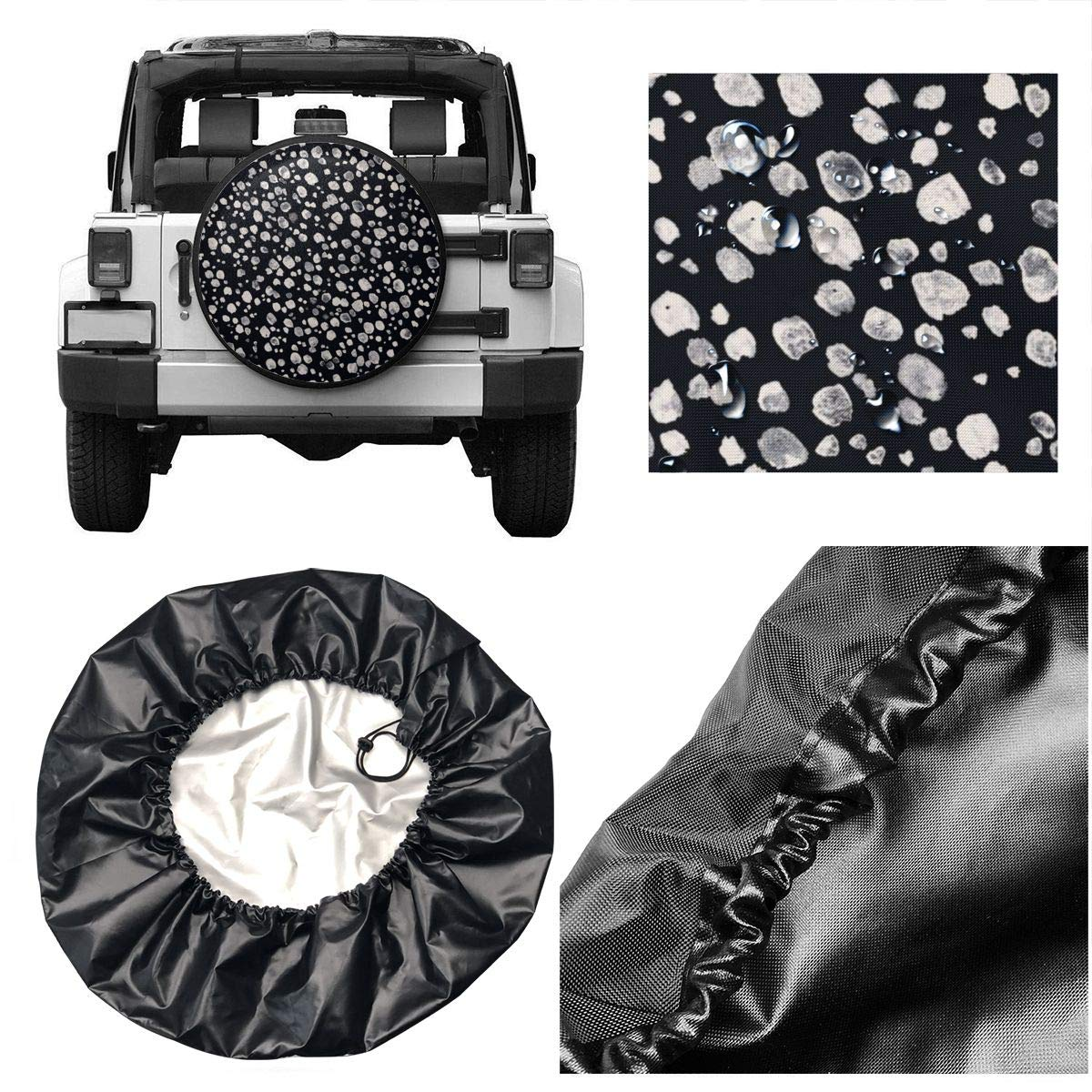 14,15,16,17 Inch Purple Flower Bouquets Printed Wheel Accessories Protector Universal Tire Covers Fit Jeep Truck Ect RV Trailer Spare Tire Cover Waterproof SUV