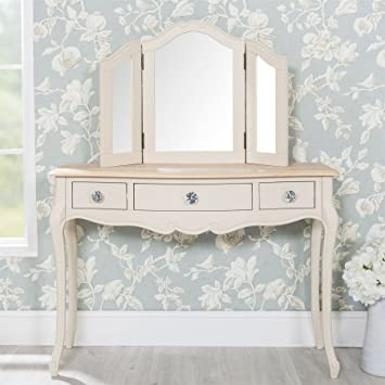 info for 20876 db063 Juliette champagne dressing table with 3 drawers and crystal ...