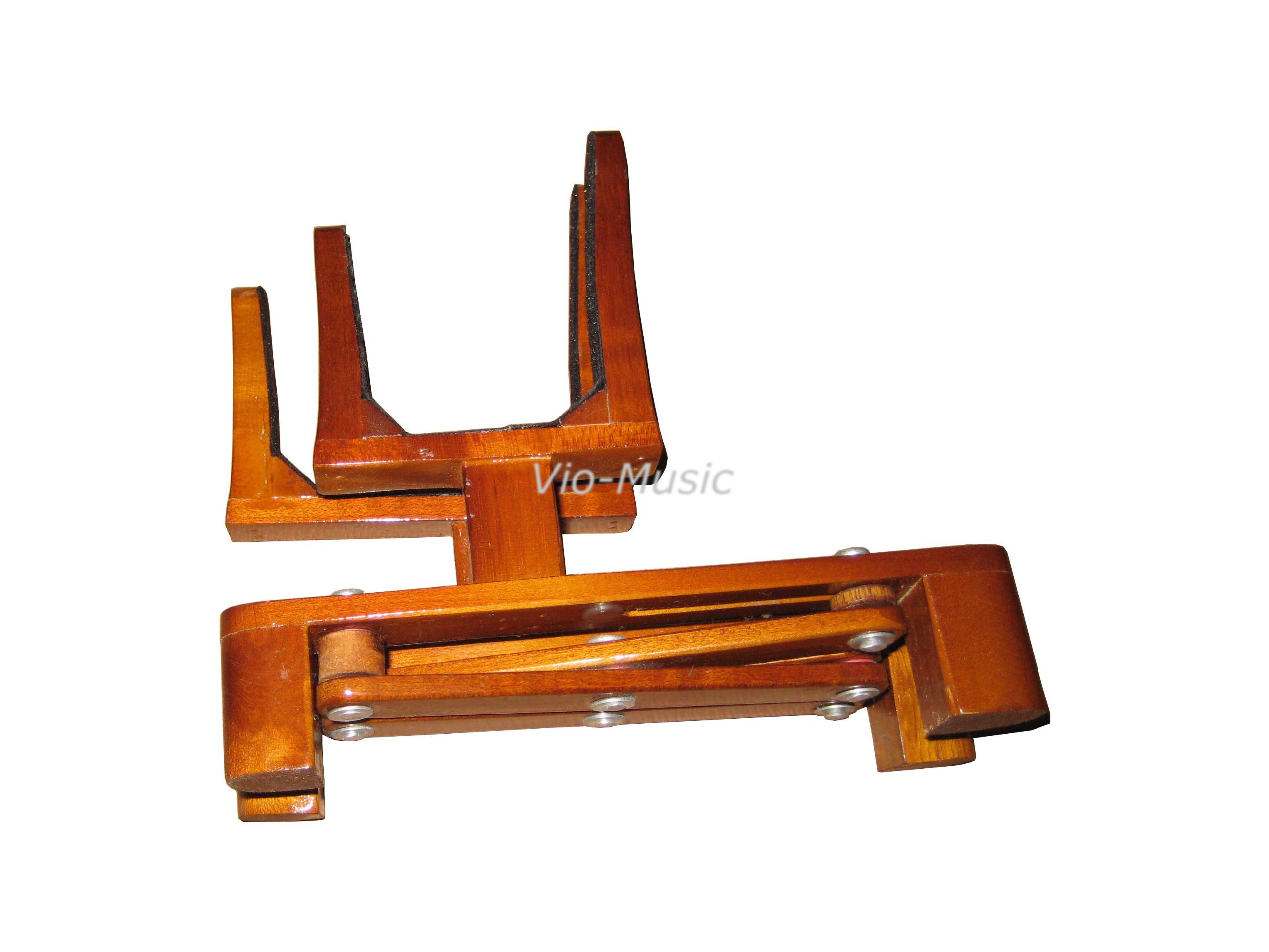 Adjustable Violin and Bow Wooden Holder, Portable