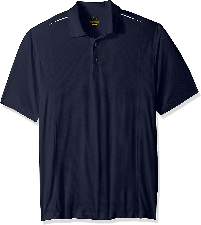 Greg Norman PGA Mens Solid Weatherknit Polo