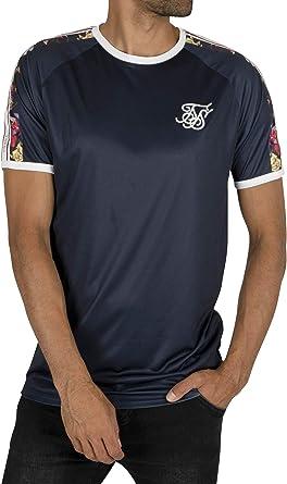 Sik Silk Hombre Camiseta Cinta Raglan Starlite, Azul: Amazon.es: Ropa y accesorios