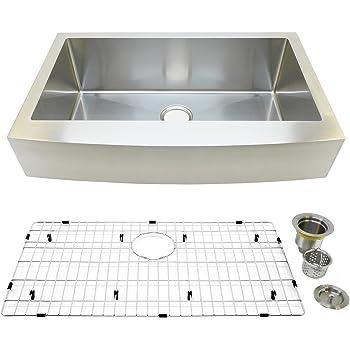 "Auric Sinks 33"" Retrofit Farmhouse Sink, Curved Front"