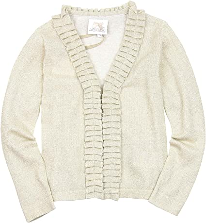 Le Chic Girls Cardigan with Ruffle Sizes 4-14