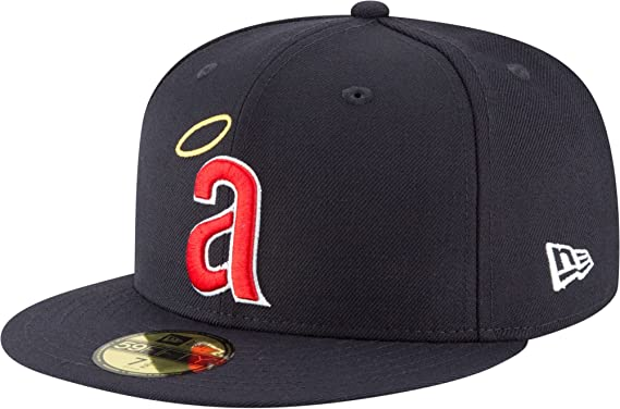 finest selection 14f63 f8a03 New Era 59Fifty Hat California Angels Cooperstown 1971 Wool Navy Blue  Fitted Cap (7)