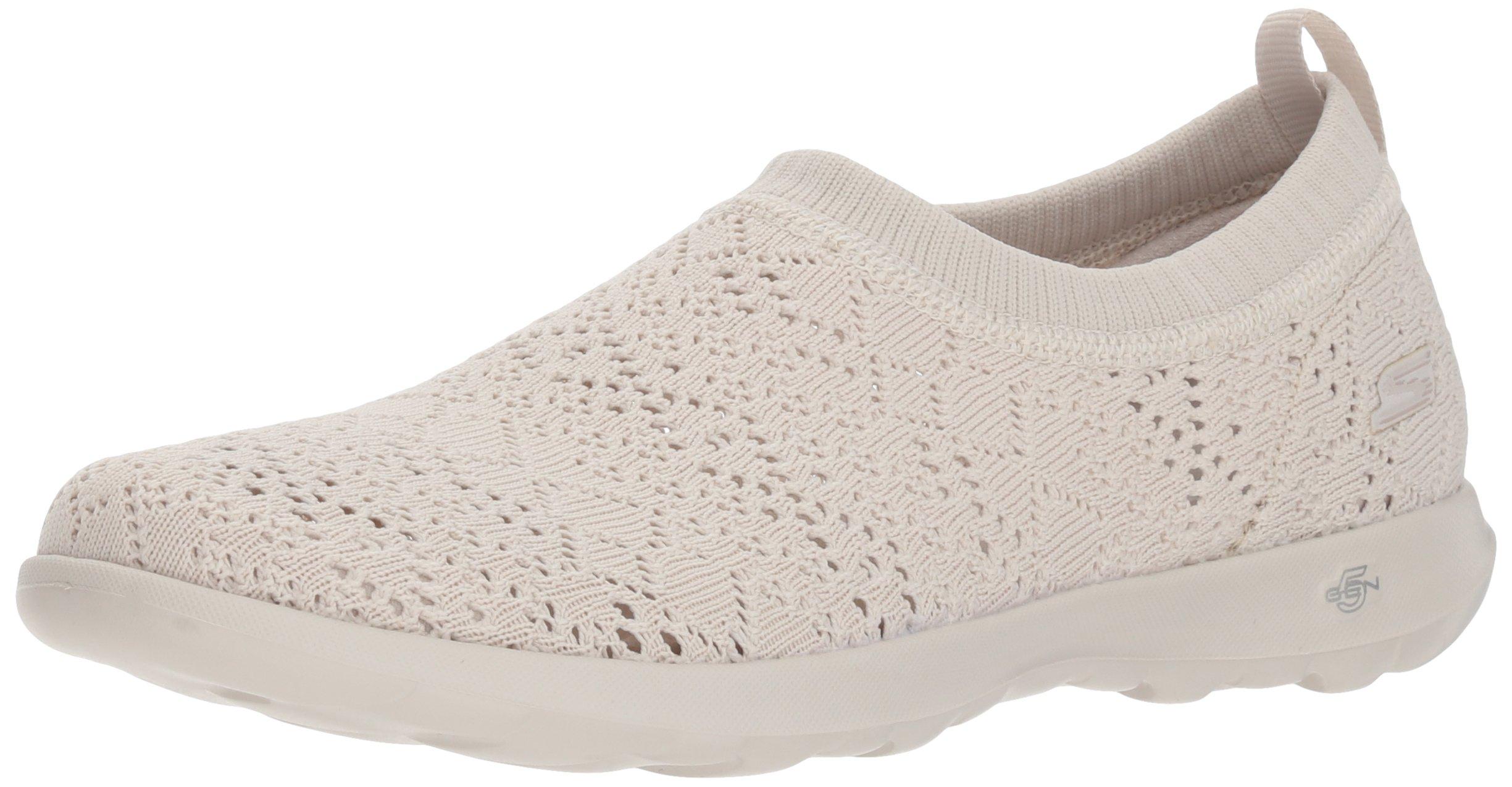 Skechers Women's Go Walk Lite-15385 Loafer,Natural,7 M US