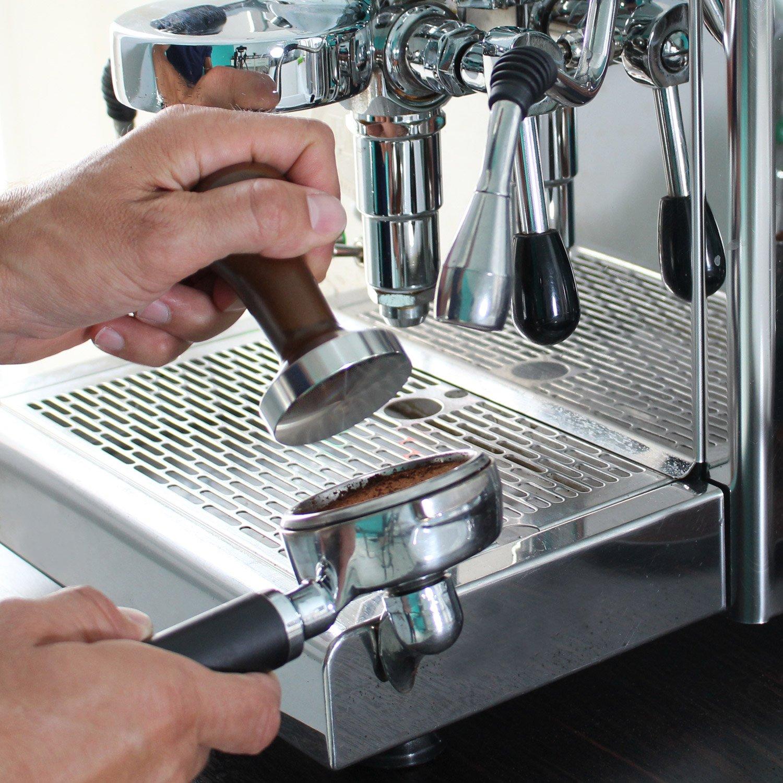 Amazy Cafe Tamper Prensador de cafe de acero inoxidable y madera natural para disfrutar un caf/é de calidad /Ø 58mm
