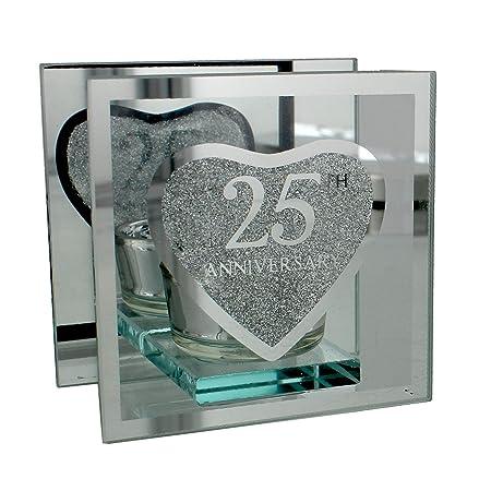 Anniversario Matrimonio Amazon.Portacandele In Argento Per 25 Anniversario Di Matrimonio Amazon