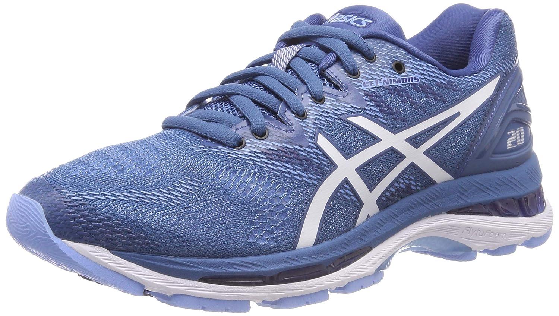 Asics Gel-Nimbus 20, Zapatillas de Running para Mujer 40.5 EU Azul (Azure/White 401)