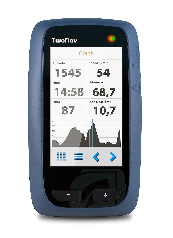 Two Nav Anima GPS-Navigationsgerät, für Großbritannien, Karte im Maßstab 1:50000, Blau/Schwarz