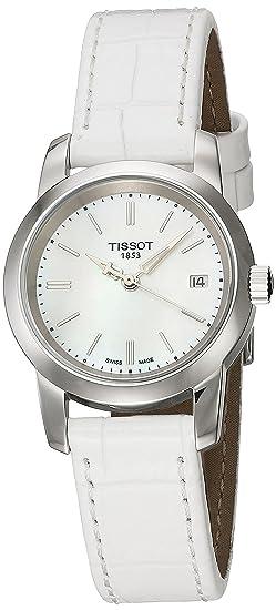 Tissot CLASSIC DREAM T0332101611100 - Reloj de mujer de cuarzo, correa blanca, esfera blanco nácar: Tissot: Amazon.es: Relojes