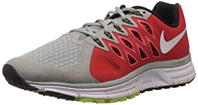 Nike Men's Zoom Vomero 9 Base Grey/White/Lt Crimson/Vlt Running Shoe