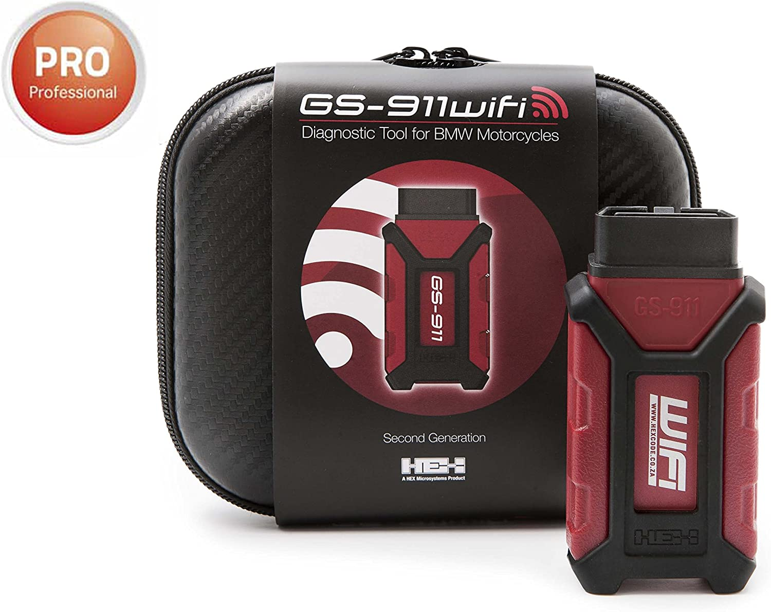 HEX Code GS911WIFI Access over wifi or USB GS-911 Wifi Diagnostic Tool for BMW Motorcycles - Services Up to 10 VINs iOS /& MAC Compatible ENTHUSIAST VERSION
