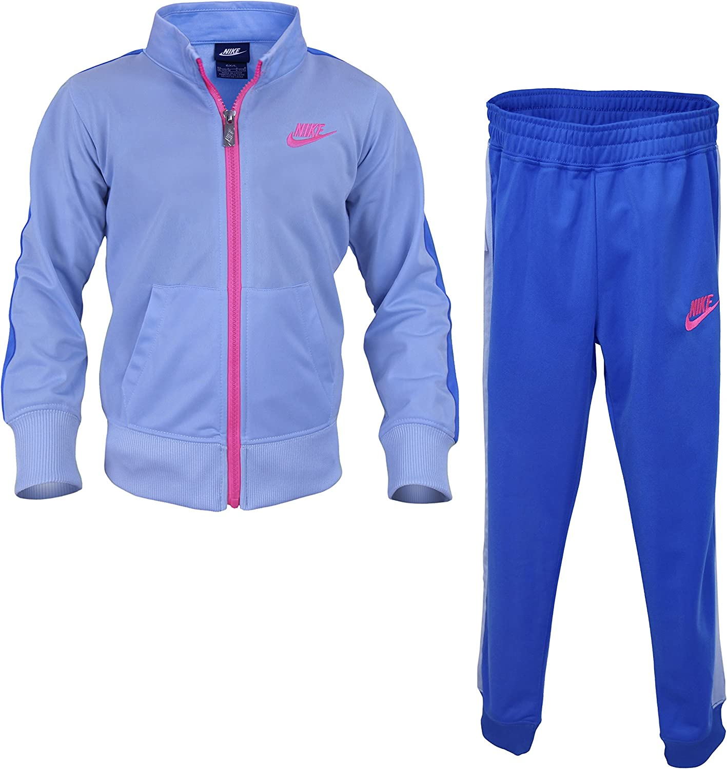 Nike Girls Swoosh Two Piece Tracksuit - Photo Blue (Size 4)