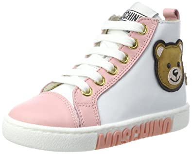 new style order best service Moschino Baby Girls' 26069 Trainers, White 10UK Child: Amazon.co ...
