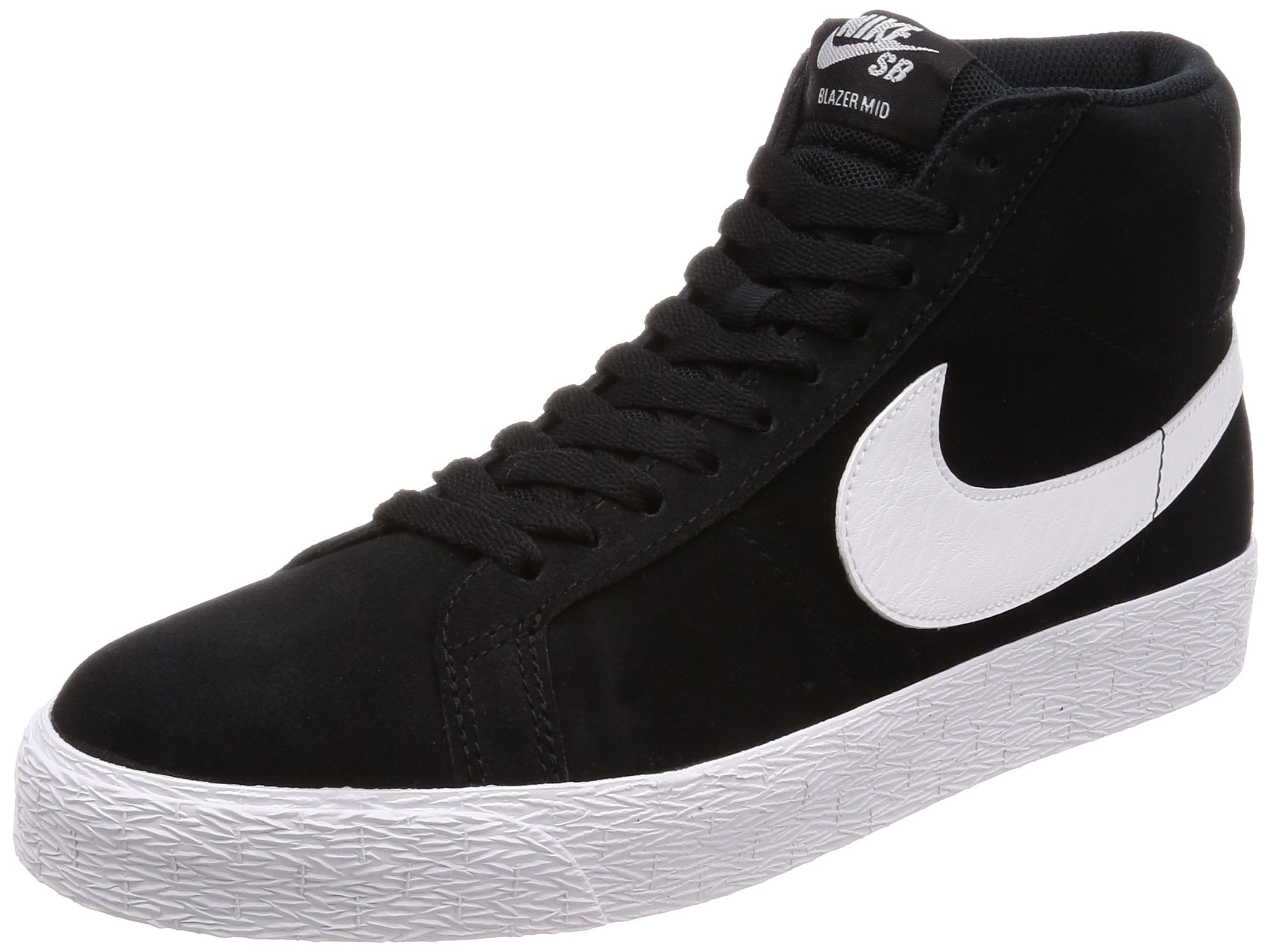 NIKE SB Zoom Blazer Mid Mens Fashion-Sneakers 864349-002_9.5 - Black/White-White-White