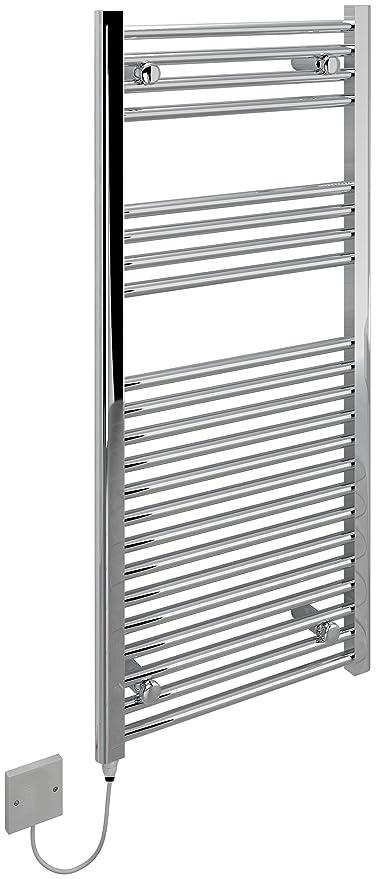 KUDOX – Toallero térmico eléctrico de 500 x 1100 mm soporte de cromo