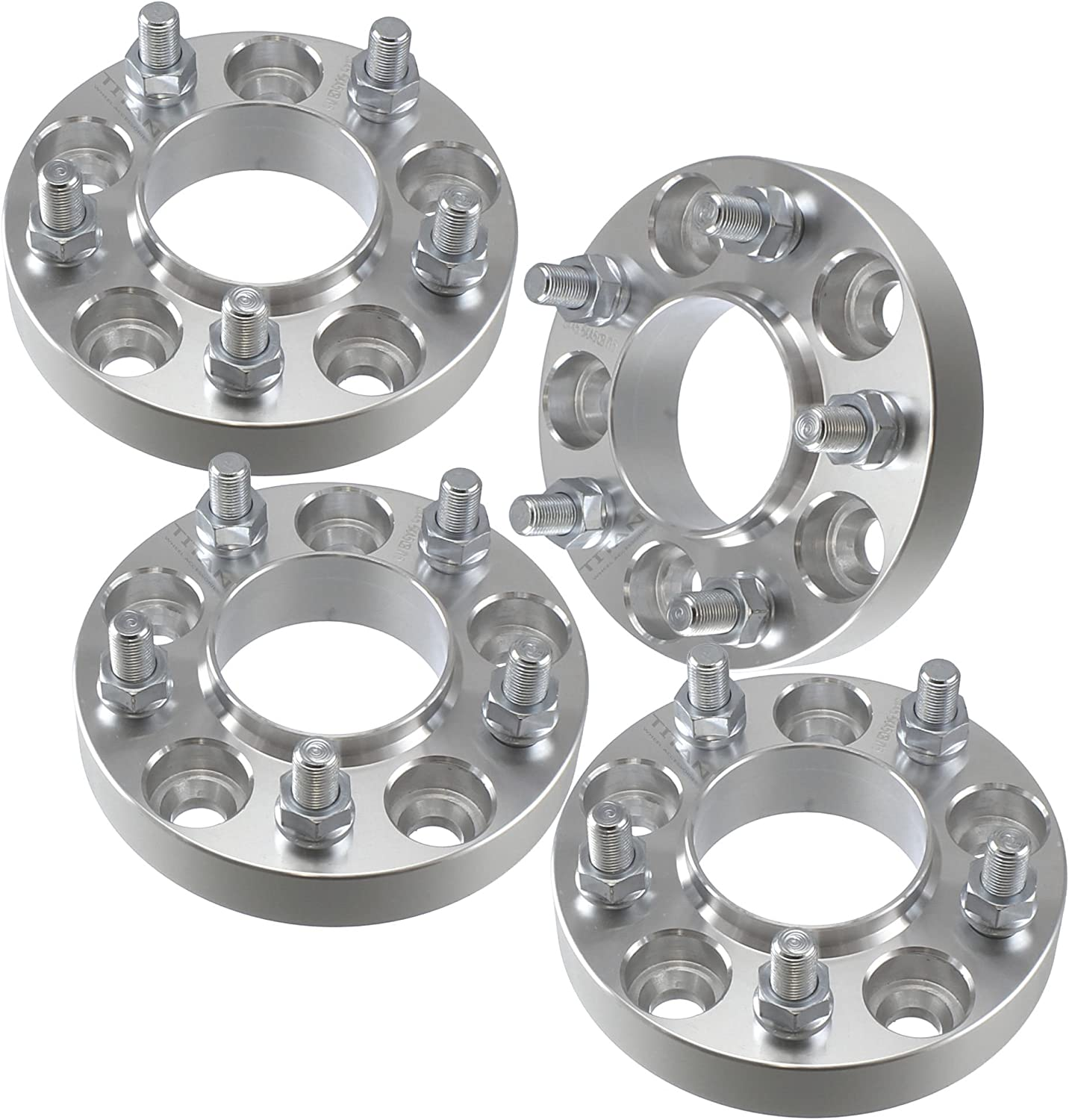 """Wheel Spacers Hub Centric Jeep Converts YJ TJ to JK 5x4.5 to 5x5 1.25/"""" Thick"""