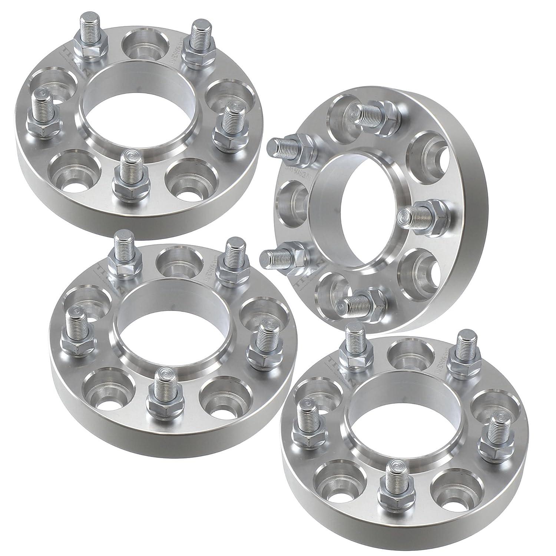 (4) 1.25' 5x4.5 to 5x5 Hubcentric Wheel Adapters Spacers | fits JK Wheels on TJ YJ KK SJ XJ MJ Titan Wheel Accessories
