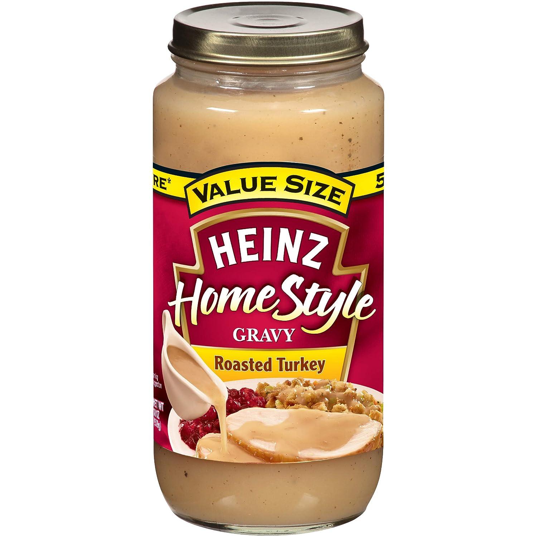 Heinz Homestyle Roasted Turkey Gravy (18 oz Jars, Pack of 12)