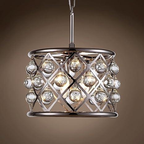 Amazon.com: Hoop - Lámpara de techo colgante de cristal ...