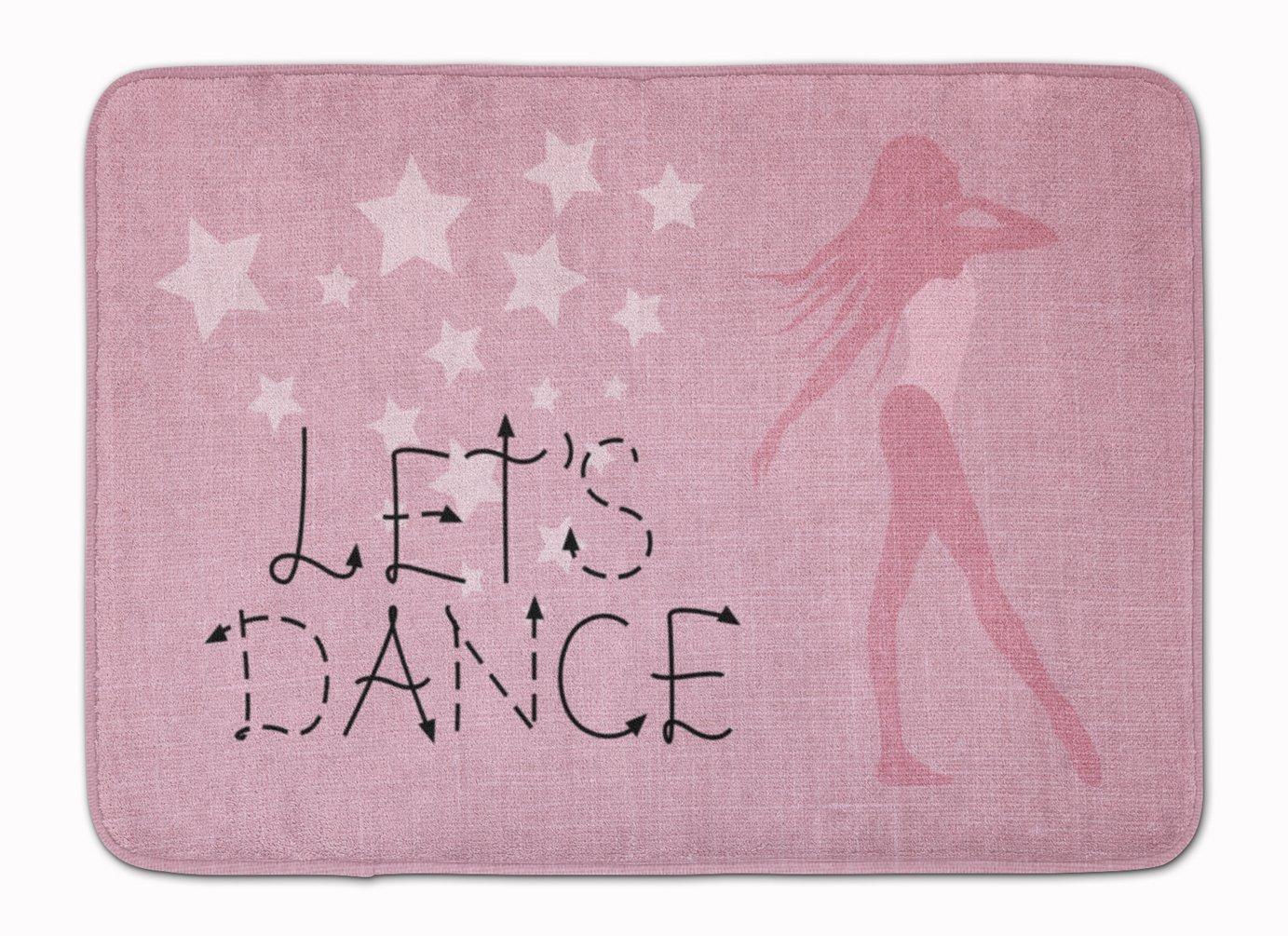 Caroline's Treasures Let's Dance Linen Pink Floor Mat, 19 H x 27 W'', Multicolor