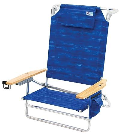 Rio Beach Big Kahuna Extra Large Folding Beach Chair, Blue