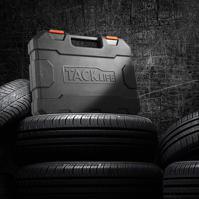 TACKLIFE 1/2-Inch Drive Master Deep Impact Socket Set, Inch, CR-V, 6 Point, 17-Piece Set - HIS2A by TACKLIFE (Image #8)