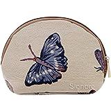 Estuche de maquillaje de moda Signare para mujer en tela de tapiz mariposa