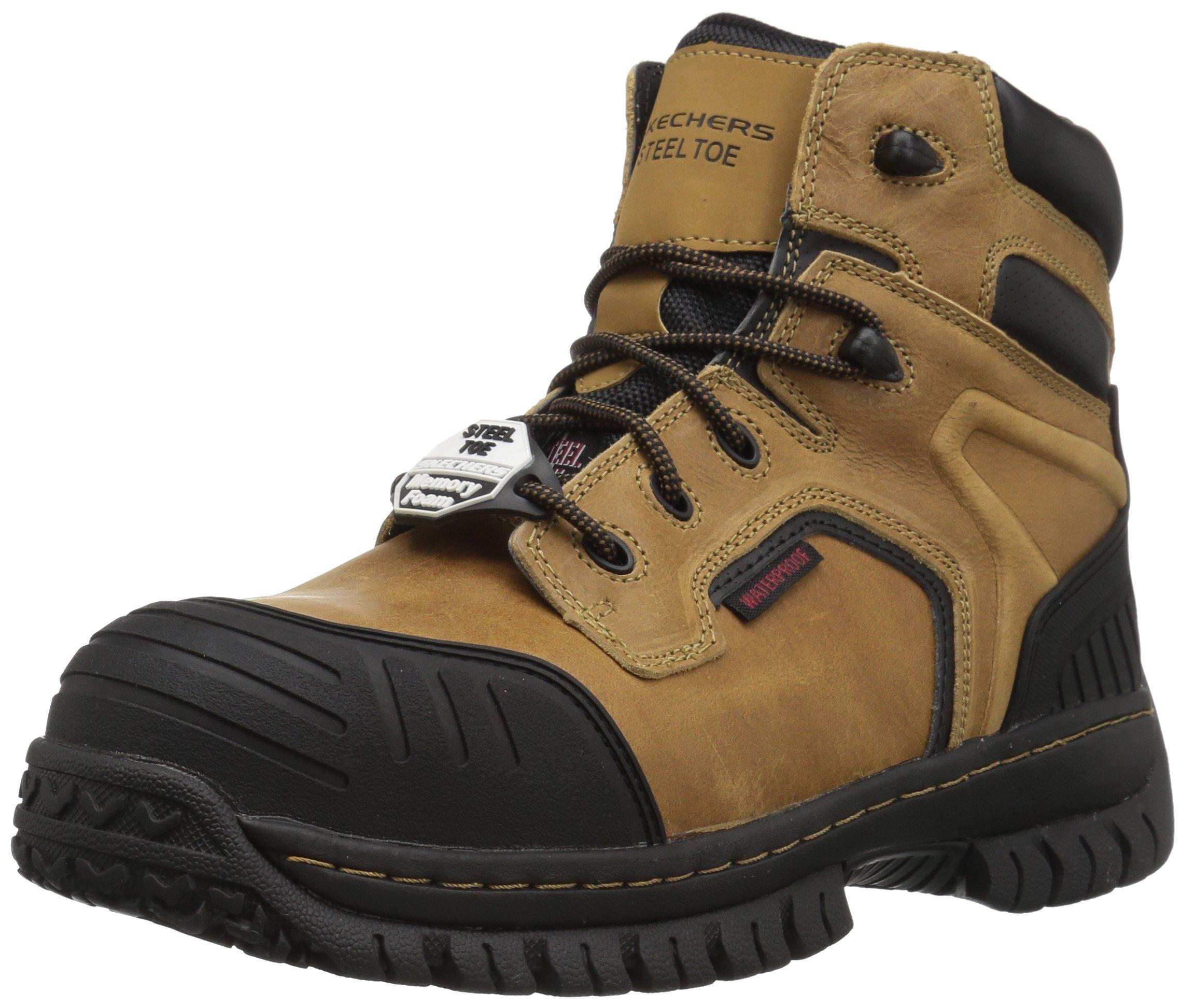 Skechers for Work Men's Hartan Onkin Work Boot,Light Brown,10 M US