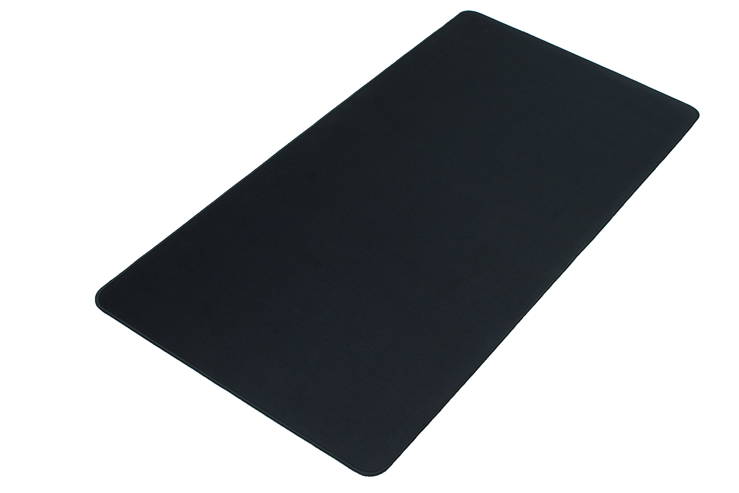 Black XXL Extended Gaming Mouse Mat/Pad - Large, Wide (Long) Mouse Pad, Stitched Edges, Speed Silky Smooth Surface - 36''x18''x0.12''