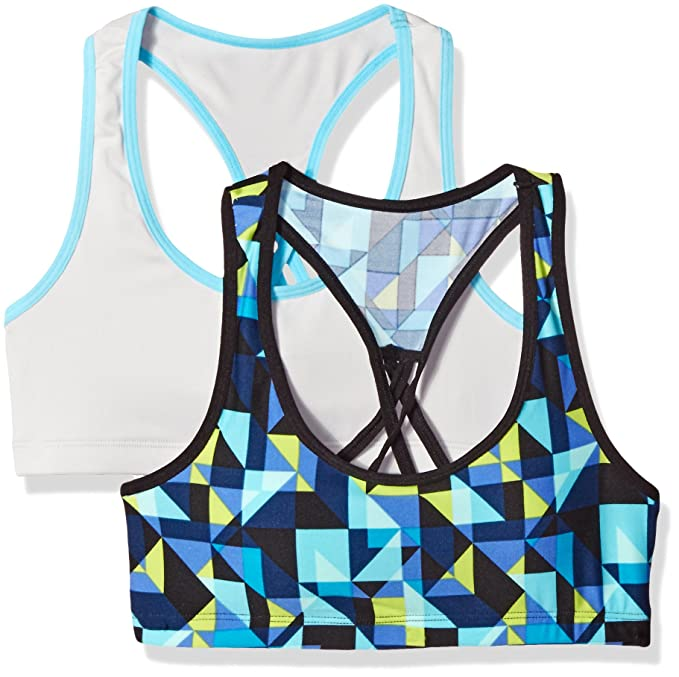 Pick SZ//Color. Fruit of the Loom Big Girls Micro Stretch Sports Bra Pack 2