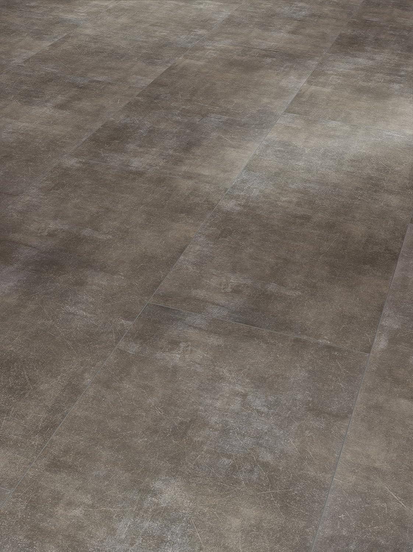 Parador Klick Vinyl Bodenbelag Trendtime 5.50 Fliese Beton Grau teinstruktur Fuge 2,148m/² hochwertige Steinoptik dunkel grau 5mm einfache Verlegung