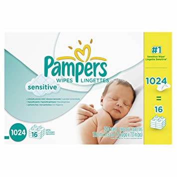 Product of Pampers Sensitive Skin Baby Wipe Refills, 1,024 ct. (baby wipes -