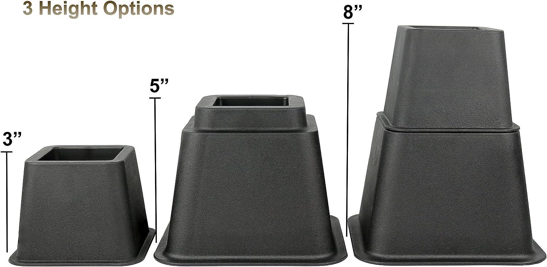 ideal f/ür unter Bett Speicher 3/H/öhe Option aufstehen Greenco Verstellbare Betten und M/öbeln Mittelteil 20,3/cm Bett Riser