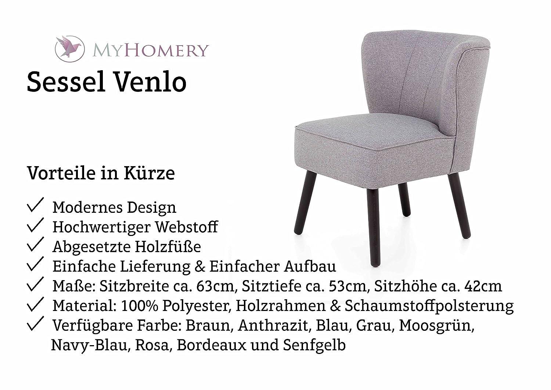 Designer Stuhl Mit Armlehnen Wohnzimmer | Myhomery Venlo Lounge Sessel Gepolstert Polsterstuhl Fur Esszimmer