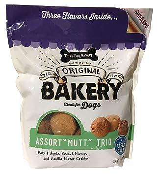 Amazon.com: Tres galletas de panadería para perros, sabores ...