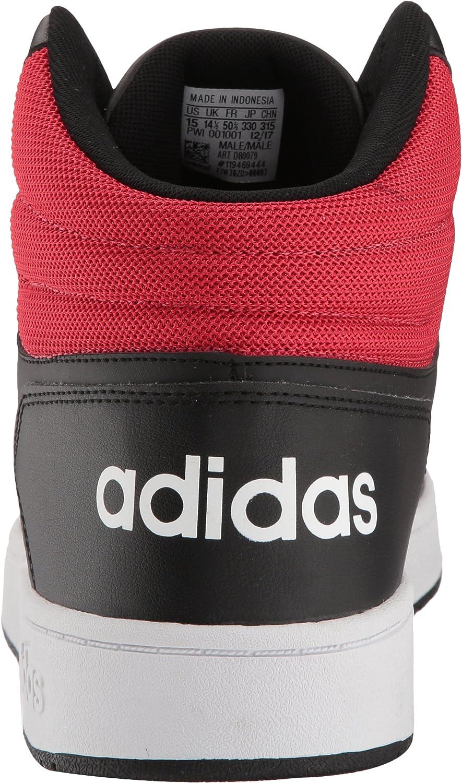adidas Herren Vs Hoops Mid 2.0 Schwarz Weiß Scarlet