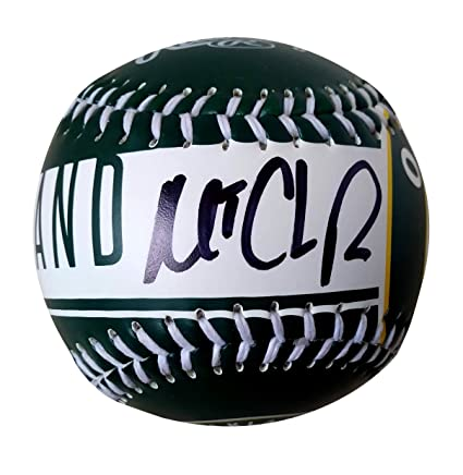102d2656aeac4c Oakland A's Matt Chapman Autographed Hand Signed Oakland Athletics Logo  Baseball with Proof Photo of Signing and COA at Amazon's Sports  Collectibles Store