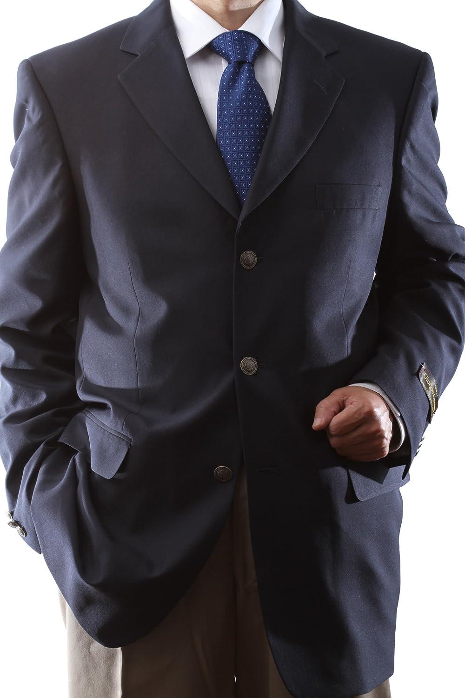 Men's Single Breasted 3 Button Navy Blazer at Amazon Men's ...