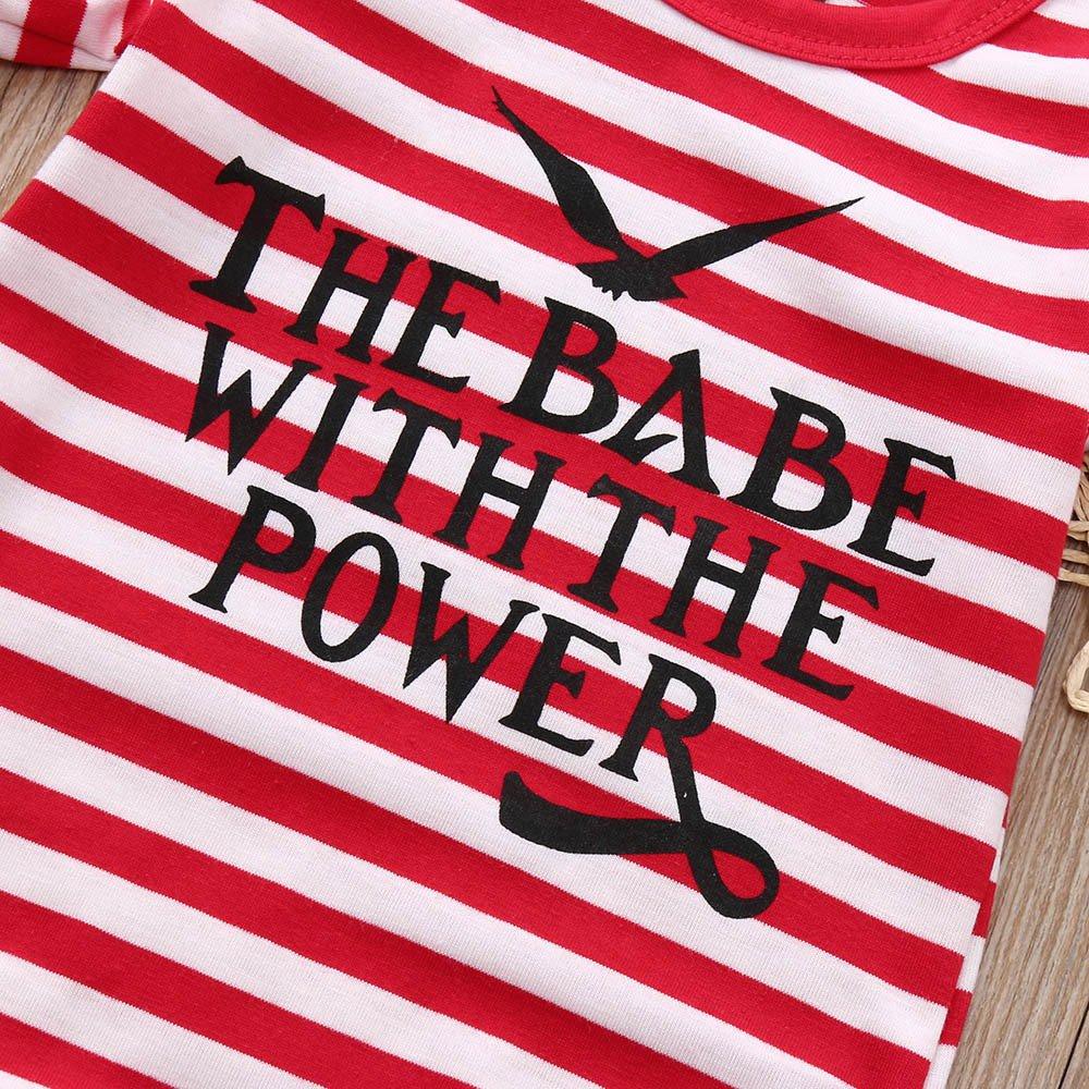 FIN86 Baby Romper Infant Newborn Girls Short Sleeve Striped Bodysuit Jumpsuit Letter Sunsuit Onesies Summer Clothes