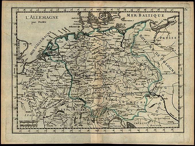 Map Of Central Germany.Amazon Com Central Europe Germany Bohemia Moravia Austria France