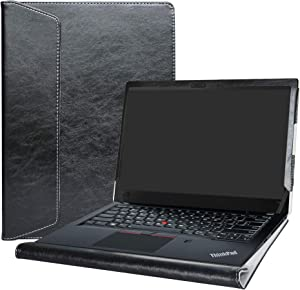 Alapmk Protective Case for 14 Inch Lenovo ThinkPad T14 T14s P14s T490 T495 T495s T490s T480s/ThinkPad P43s Laptop(Not fit thinkpad T480),Black