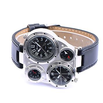 CLE DE TOUS Reloj de Pulsera de Cuarzo para Hombre Color Negro 9415#