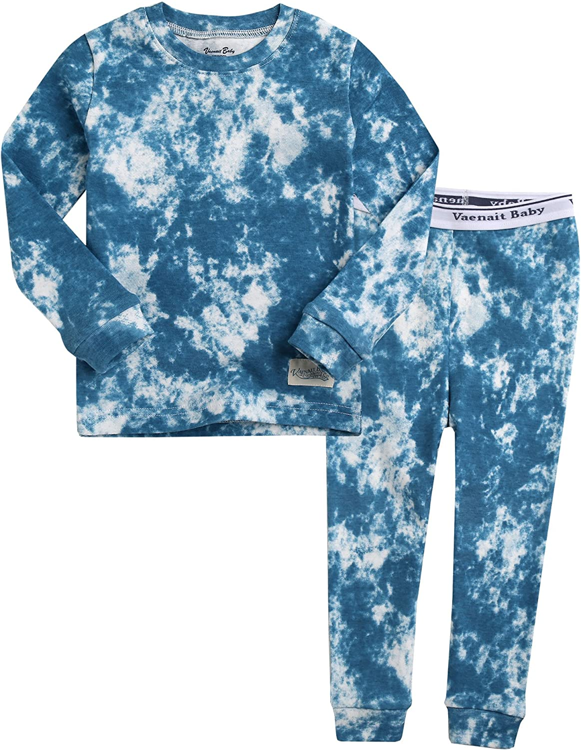 VAENAIT BABY 12M-12 Toddler Kids Boys Girls 100% Cotton Marbling Sung Fit Sleepwear Pajamas 2pcs Pjs Set Cloud
