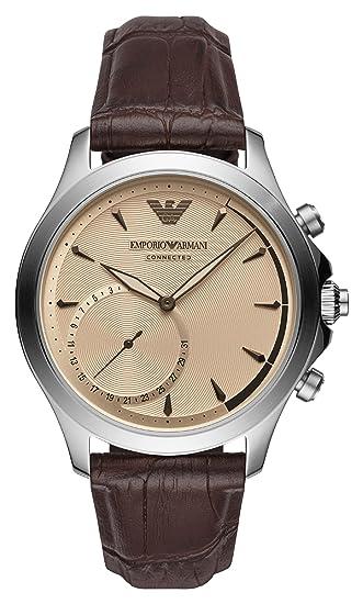 Emporio Armani Reloj Analogico para Hombre de Cuarzo con Correa en Cuero ART3014